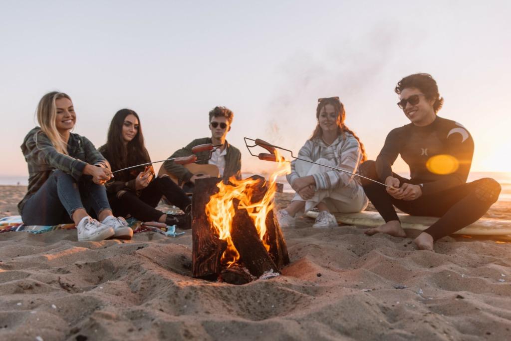 Students around Campfire